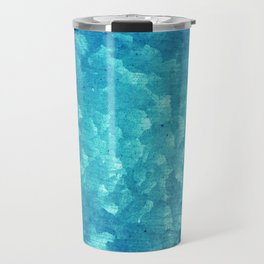 Blue grunge rusty metal Travel Mug