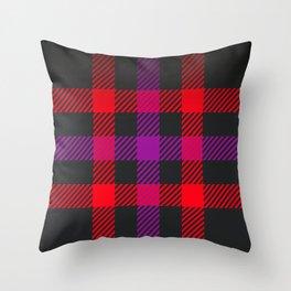 tartan purple red Throw Pillow