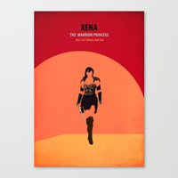 xena Canvas Prints featuring Xena by Fräulein Fisher