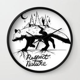 Respect Nature. Wall Clock