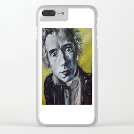 Jonny Rotten Clear iPhone Case