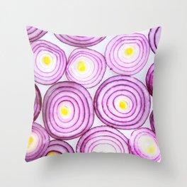 PURPLE ONION SLICE TEXTURE Throw Pillow