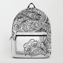 B&W Indian Mandala Backpack