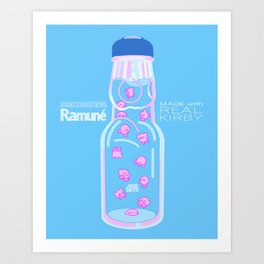 Kirby Ramune (Sangaria Ramnue - Made with Real Kirby) Art Print