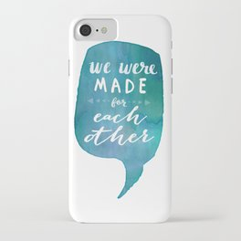 we were MADE for each other (Valentine Love Note) iPhone Case
