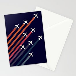 Aerial acrobat Stationery Cards