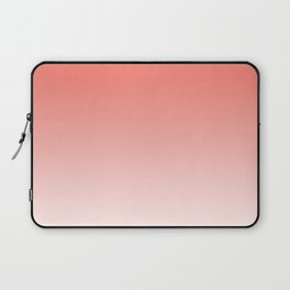 Color Gradient Living Coral Ombre- Mix & Match with Simplicity of Life Laptop Sleeve