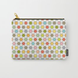 Hexagon Tile Pattern Carry-All Pouch
