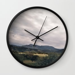 Cypress mountains and forests Wall Clock
