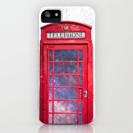 Telephone Box Portal London England iPhone Case