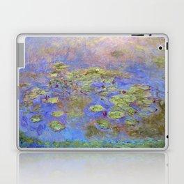 Water Lillies - Claude Monet (indigo blue) Laptop & iPad Skin