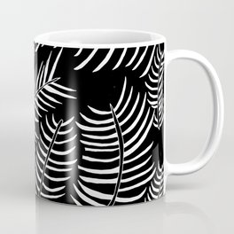 B&W Inverted Leaves Coffee Mug