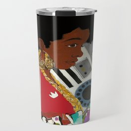 Old school Afro Travel Mug