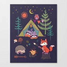 Racoon's Campout Canvas Print