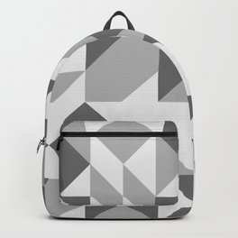 Modern Geometric Abstract in Gray Backpack