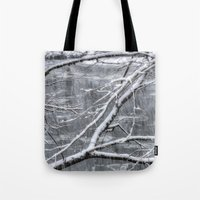 river song Tote Bags featuring Winter's Song by Joann Vitali