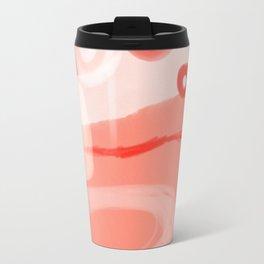 pink-salmon abstract aquarel Travel Mug