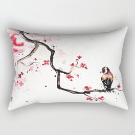 "The tiny wings ""The goldfinch"" Rectangular Pillow"