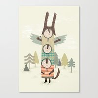 totem Canvas Prints featuring totem by kate hindley