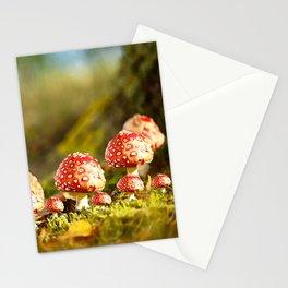 Beautiful but toxic - Fly agaric - Amanita - Autumn illustration - #society6 #buyart Stationery Cards