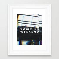 vampire weekend Framed Art Prints featuring Vampire Weekend 3 by alboradas