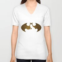 bat man V-neck T-shirts featuring Bat Man by Sport_Designs