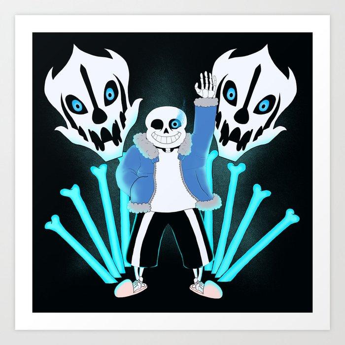 Sans the Skeleton Art Print