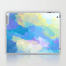 Colorful Abstract - blue, pattern, clouds, sky Laptop & iPad Skin