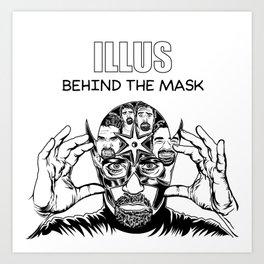 ILLUS: Behind the Mask Art Print