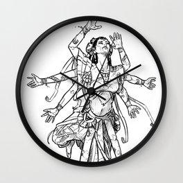 CyberPunk Indian Dancer Wall Clock