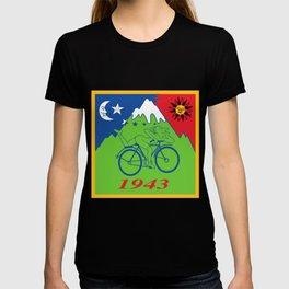 Hofmann Bike ride LSD Blotter Art Psychedelic T-shirt