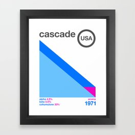 cascade//single hop Framed Art Print