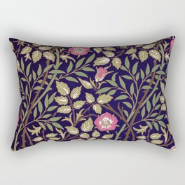 William Morris Sweet Briar Floral Art Nouveau Rectangular Pillow