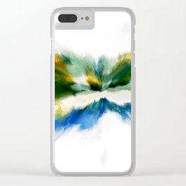 Serenity Abstract Clear iPhone Case
