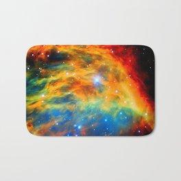 Rainbow Medusa Nebula Bath Mat