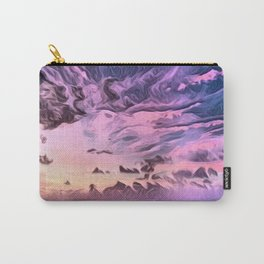 Hawaii Pacific Ocean Romantic Sunset (Painting) Carry-All Pouch