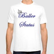 Baller Status Mens Fitted Tee MEDIUM White