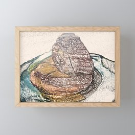 ArtWork Horseshoe Bend Arizona USA Grand Canyon Art Work Paint Painting Framed Mini Art Print