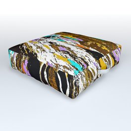 Horse Abstract Oil Painting Outdoor Floor Cushion