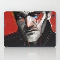 quentin tarantino iPad Cases featuring Quentin Tarantino by Zaneta Antosik