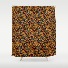 Monarch Butterflies Pattern | Butterfly Pattern | Shower Curtain