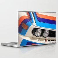 bmw Laptop & iPad Skins featuring BMW CSL by Internal Combustion