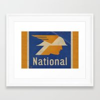 the national Framed Art Prints featuring National Logo by Bruce Stanfield