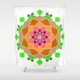 Multicolor esoteric petal mandala Shower Curtain