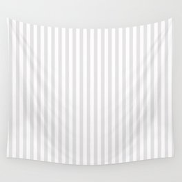 Vintage white gray elegant stripes pattern Wall Tapestry