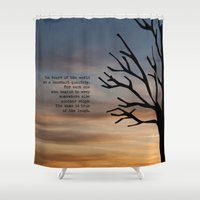 literary Shower Curtains featuring Waiting for Godot, Samuel Beckett – literary art by pennyprintables