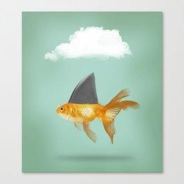 Goldfish with a Shark Fin (under a cloud) Canvas Print