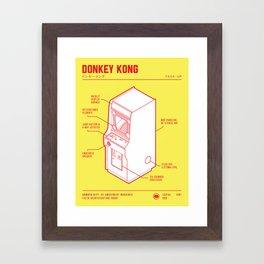 ARCADE CAB - DONKEY KONG Framed Art Print