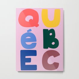 Mod Quebec Travel Poster Metal Print