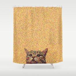 Glitzy Cat Shower Curtain